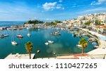 mikrolimano marina in piraeus ... | Shutterstock . vector #1110427265