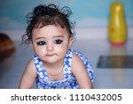 very cute   innocent indian kid  | Shutterstock . vector #1110432005