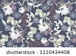 cute floral pattern in the... | Shutterstock .eps vector #1110434408