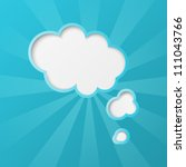 Paper Clouds Background With...