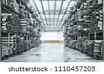 metal rolled products on a... | Shutterstock . vector #1110457205