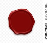 stamp wax seal or vector red... | Shutterstock .eps vector #1110464408