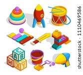 isometric preschool children... | Shutterstock .eps vector #1110469586