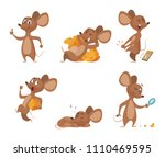 various characters of mice in... | Shutterstock .eps vector #1110469595