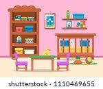 vector picture of kids room... | Shutterstock .eps vector #1110469655
