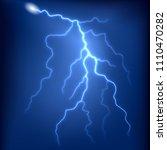 vector lightning strike in...   Shutterstock .eps vector #1110470282