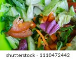 fresh mixed salad with... | Shutterstock . vector #1110472442
