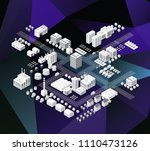 city isometric of urban... | Shutterstock .eps vector #1110473126