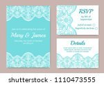 template of wedding cards with... | Shutterstock .eps vector #1110473555