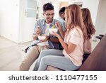 family holidays and people... | Shutterstock . vector #1110477155