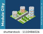 city isometric of urban... | Shutterstock .eps vector #1110486026