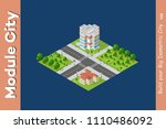 city isometric of urban... | Shutterstock .eps vector #1110486092