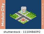 city isometric of urban... | Shutterstock .eps vector #1110486092