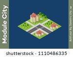 city isometric of urban... | Shutterstock .eps vector #1110486335
