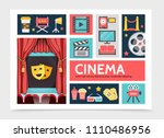 flat movie infographic concept | Shutterstock .eps vector #1110486956