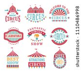 retro badges or logotypes of... | Shutterstock .eps vector #1110486998