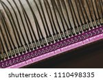 a number of numbered wires in... | Shutterstock . vector #1110498335