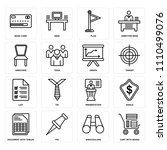 set of 16 icons such as cart...