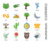set of 16 icons such as wolf ... | Shutterstock .eps vector #1110503012