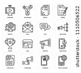 set of 16 icons such as social... | Shutterstock .eps vector #1110506522