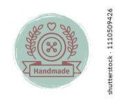 grunge handmade logo design.... | Shutterstock .eps vector #1110509426
