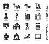 set of 16 icons such as tools...