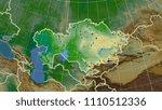 kazakhstan area map in the...   Shutterstock . vector #1110512336