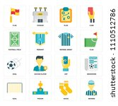 set of 16 icons such as referee ...