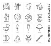 set of 16 icons such as spear ... | Shutterstock .eps vector #1110512882