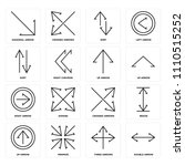 set of 16 icons such as double...