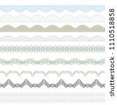 set of guilloche borders.... | Shutterstock .eps vector #1110518858