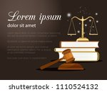 law and justice background. law ... | Shutterstock .eps vector #1110524132