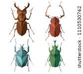 insect icons  vector set.... | Shutterstock .eps vector #1110530762