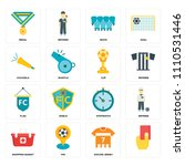 set of 16 icons such as  soccer ...