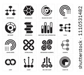 set of 16 icons such as chart...