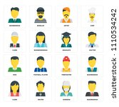 set of 16 icons such as... | Shutterstock .eps vector #1110534242