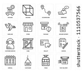 set of 16 icons such as fast...