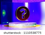 golden question circle icon on... | Shutterstock . vector #1110538775