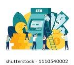 vector illustration virtual... | Shutterstock .eps vector #1110540002