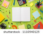 notebook and school accessories ... | Shutterstock . vector #1110540125