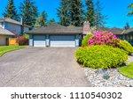 big custom made luxury house... | Shutterstock . vector #1110540302