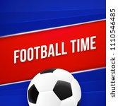 football time  sport poster...   Shutterstock .eps vector #1110546485