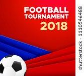 football sport poster design....   Shutterstock .eps vector #1110546488
