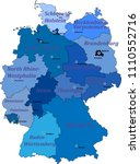 map of germany on a white... | Shutterstock .eps vector #1110552716