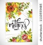 floral template card  garden...   Shutterstock .eps vector #1110555485