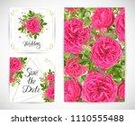 wedding floral template invite  ...   Shutterstock .eps vector #1110555488