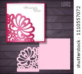 laser and die cut wedding...   Shutterstock .eps vector #1110557072
