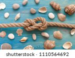 summer vacation background. sea ... | Shutterstock . vector #1110564692