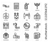 set of 16 icons such as... | Shutterstock .eps vector #1110566192