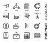 set of 16 icons such as...   Shutterstock .eps vector #1110566258